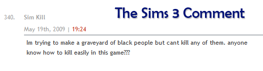 Sims 3 comment
